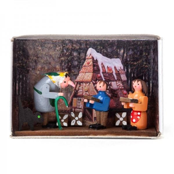 Dregeno Erzgebirge - Miniatur-Zündholzschachtel Hänsel und Gretel