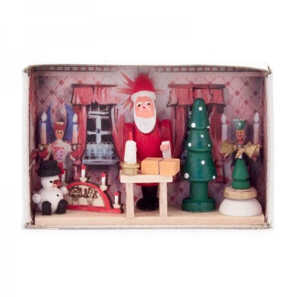 Dregeno Erzgebirge - Miniatur-Zündholzschachtel Weihnachtsstube