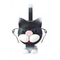 Dregeno Erzgebirge - Brillenständer Katze, schwarz