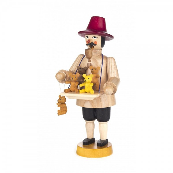 Dregeno Erzgebirge - Räuchermann Teddyhändler - 20cm