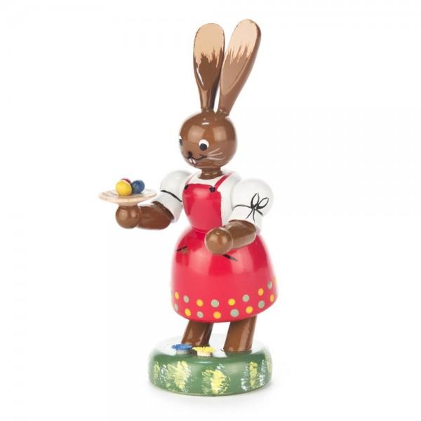 Dregeno Erzgebirge - Hasenfrau mit Tablett, farbig
