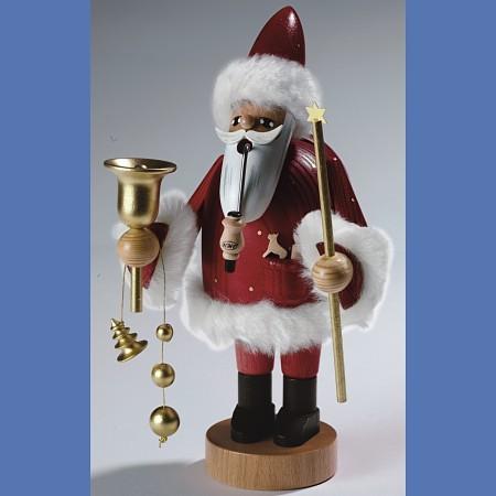 KWO Räuchermann Erzgebirge Santa Claus rot 18cm