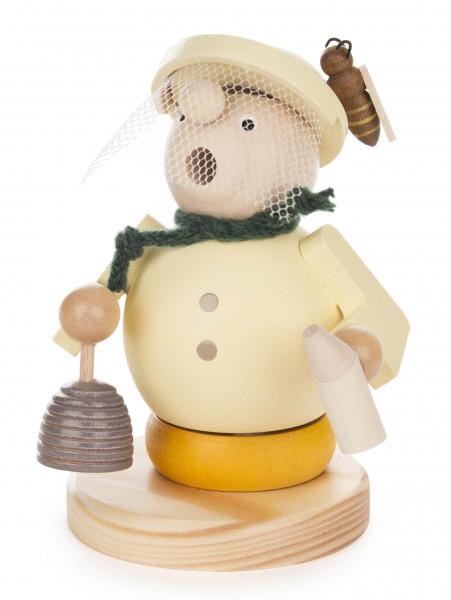 Dregeno Erzgebirge - Räuchermann Imker Willy mit Bienenkorb