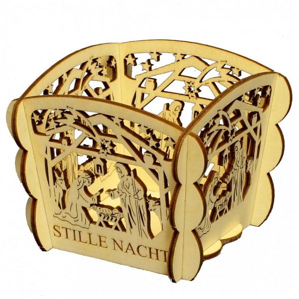 HELA Holzkunst - Teelichthalter Christgeburt