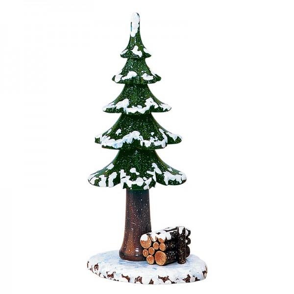Hubrig Winterkinder Winterbaum mit Holzstapel