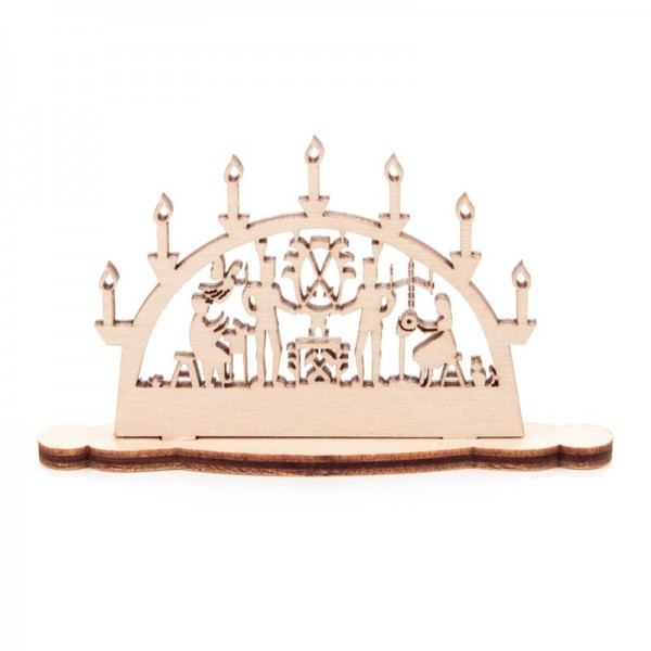 Dregeno Erzgebirge - Miniatur-Schwibbogen Motiv Bergleute