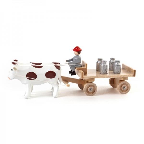 Dregeno Erzgebirge - Miniatur-Ochsen mit Tafelwagen und Kannen