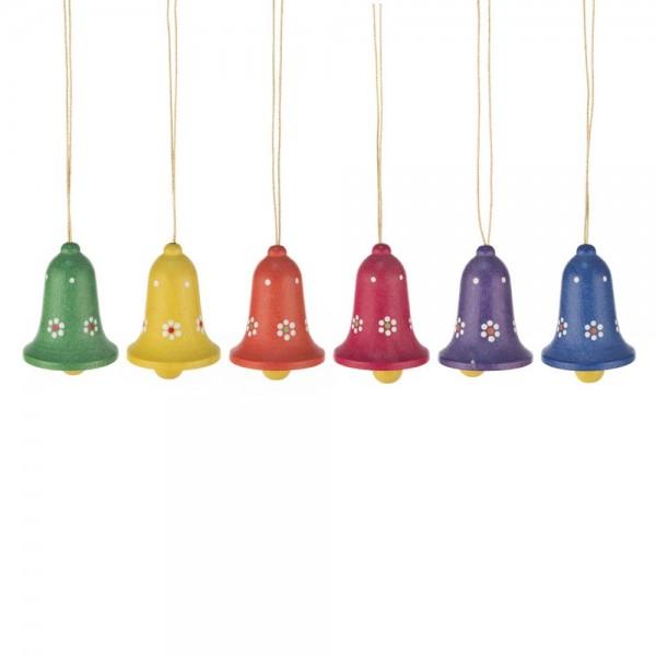 Dregeno Erzgebirge - Behang - Glocken mit Blumenmotiv, klein