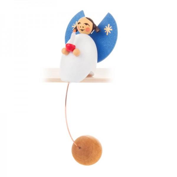 Dregeno Erzgebirge - Miniatur-Schaukelfigur Engel mit Kerze