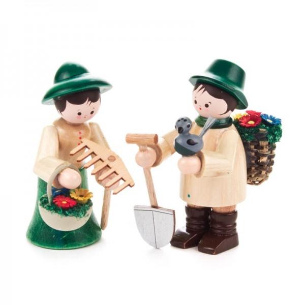 Dregeno Erzgebirge - Miniatur-Gärtnerpaar