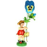 Hubrig Blumenmädchen 24cm Stiefmütterchen