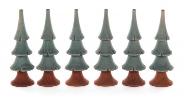 Dregeno Erzgebirge - Massivholzbäume grün, 8cm (6)