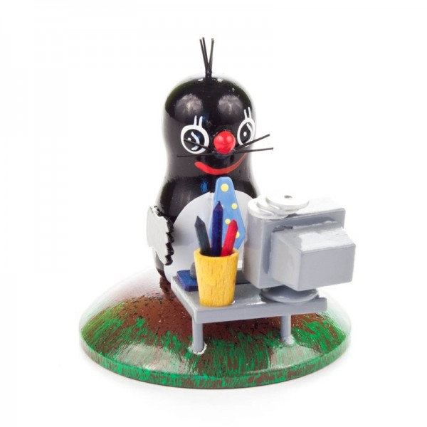 Dregeno Erzgebirge - Miniatur-Maulwurf am Computer