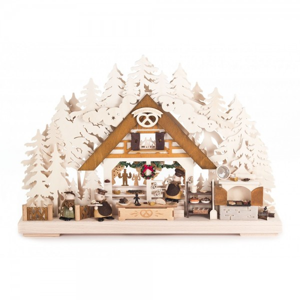 Dregeno Erzgebirge - 3D-Schwibbogen Weihnachtsbäckerei