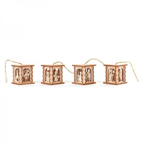 Dregeno Erzgebirge - Miniatur-Laternen für Puppenstube, 4-teilig