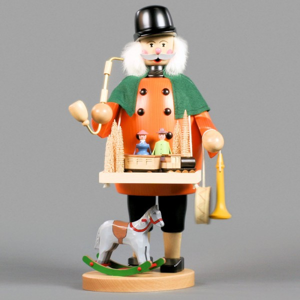 Dregeno Erzgebirge - Räuchermann Spielzeughändler - 44cm