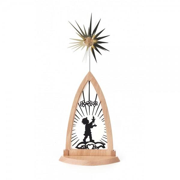 Dregeno Erzgebirge - Leuchtbildpyramide, Motive auswechselbar - 30cm