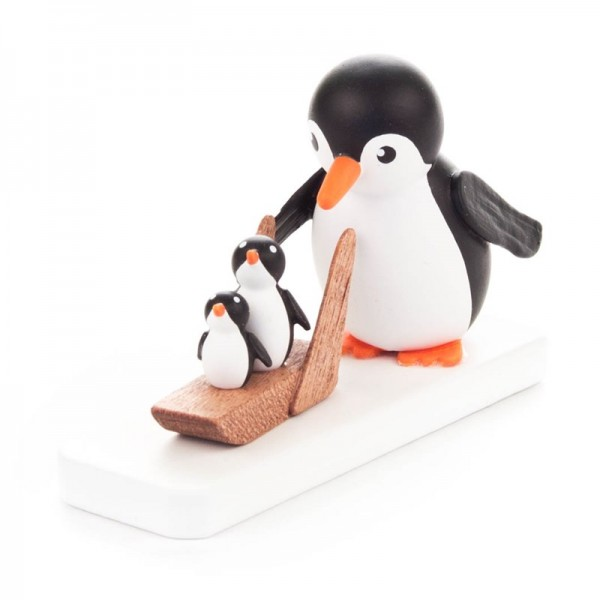 Dregeno Erzgebirge - Miniatur-Pinguin Schlittenfahrer