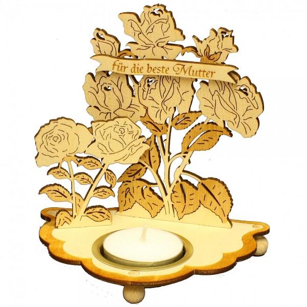 HELA Holzkunst - Teelichthalter Für die beste Mutter