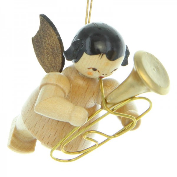 Uhlig Engel schwebend mit Bariton , natur, handbemalt