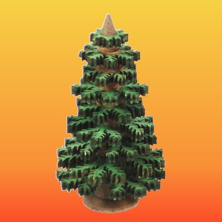 Lenk & Sohn Erzgebirgischer Schichtenbaum Nadelbaum Set 4-8cm grün