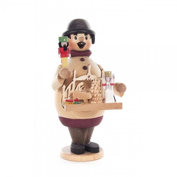 Dregeno Erzgebirge - Räuchermann-Serie Max - Weihnachtsmarkthändler - ca. 16cm