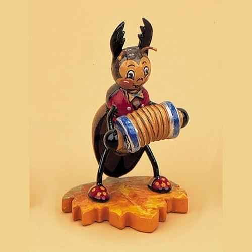 Hubrig Hirschkäfer mit Ziehharmonika