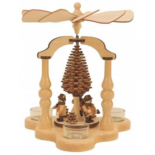 Lenk & Sohn Teelicht Pyramide Waldfiguren 3-flammig