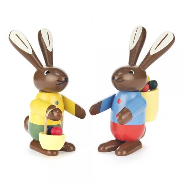 Dregeno Erzgebirge - Hasenpaar, farbig