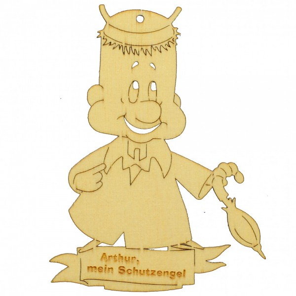 HELA Holzkunst - Arthur mein Schutzengel zum Hängen und Stellen