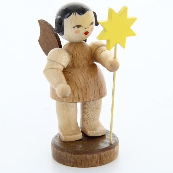 Uhlig Engel stehend mit Stern, natur, handbemalt