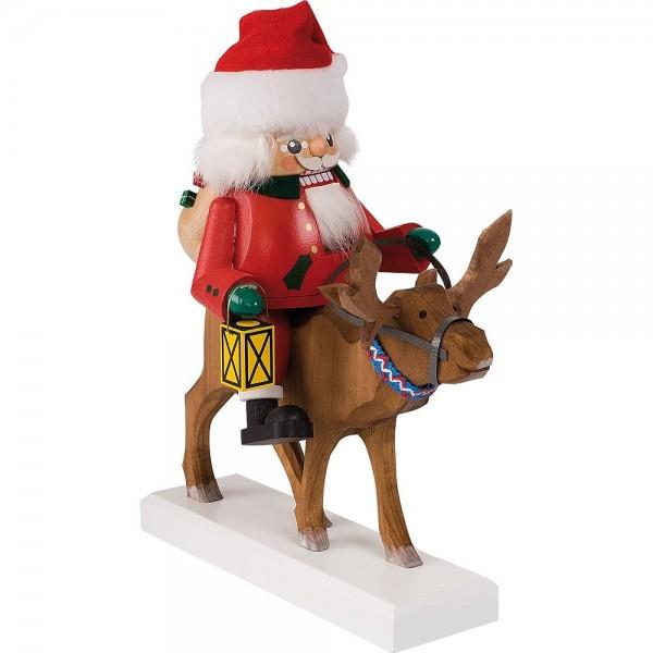 Richard Glässer Nussknacker Santa auf Rentier