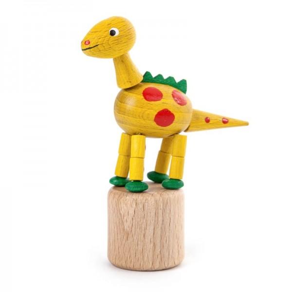 Dregeno Erzgebirge - Miniatur-Wackeltier Dinosaurierer, gelb