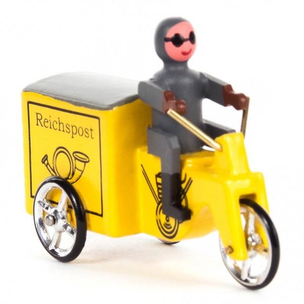 Dregeno Erzgebirge - Miniatur-Motorrad Reichspost gelb
