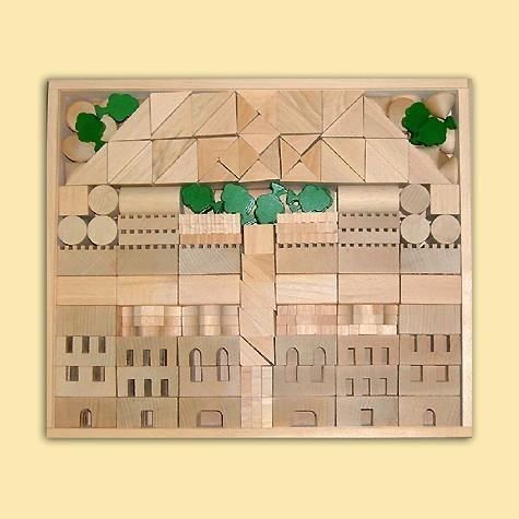 Ebert Holzbaukasten Architektur 1+2 345 Teile