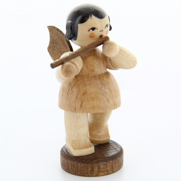 Uhlig Engel stehend mit Querflöte, natur, handbemalt