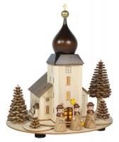 Lenk & Sohn Lichterhaus Bergkirche beleuchtet