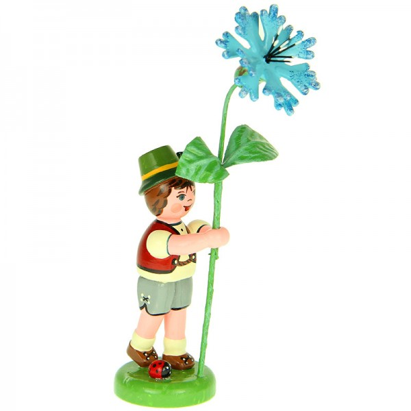 Hubrig Blumenjunge 11cm Blumenkind mit Kornblume