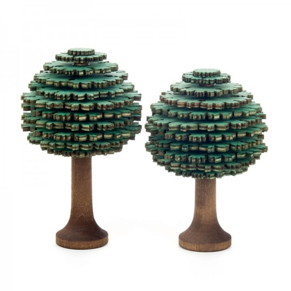 Dregeno Erzgebirge - Miniatur-Laubbäume, grün, 2-teilig
