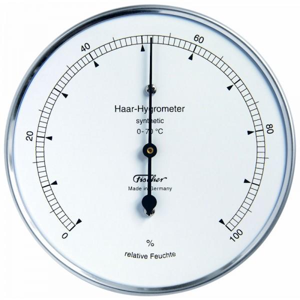 Fischer Präzis Haar-Hygrometer synthetic Gehäuse Edelstahl