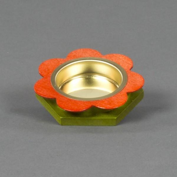 Dregeno Erzgebirge - Teelichthalter Blume