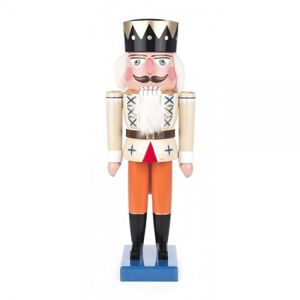 Dregeno Erzgebirge - Nussknacker König beige - 36cm
