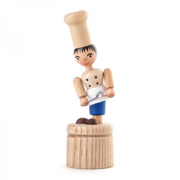 Dregeno Erzgebirge - Miniatur-Wackelfigur Koch