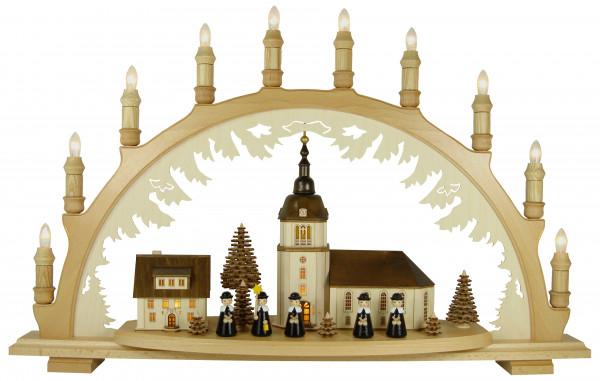 Lenk & Sohn - Schwibbogen Dorfkirche, Kurrende schw.
