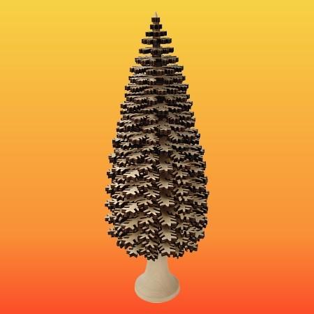 Lenk & Sohn Erzgebirgischer Schichtenbaum Nadelbaum 50cm natur