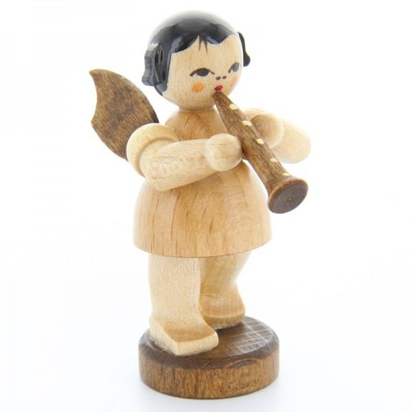 Uhlig Engel stehend mit Klarinette, natur, handbemalt