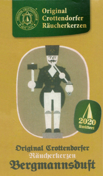 Dregeno Erzgebirge - Crottendorfer Räucherkerzen »Bergmannsduft« (24), Limitierte Auflage 2020