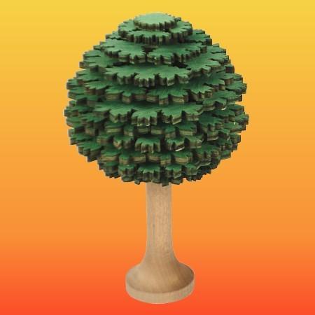 Lenk & Sohn Erzgebirgischer Schichtenbaum Laubbaum 10cm grün