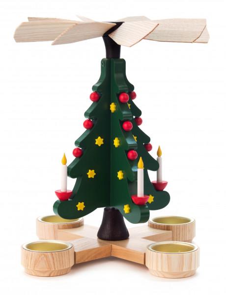 Dregeno Erzgebirge - Pyramide Tannenbaum, für Teelichte