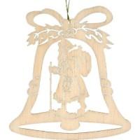 Lenk & Sohn Baumbehang Glocke Motiv Weihnachtsmann